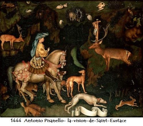 1444 antonio pisanello la vision de saint eustace 1