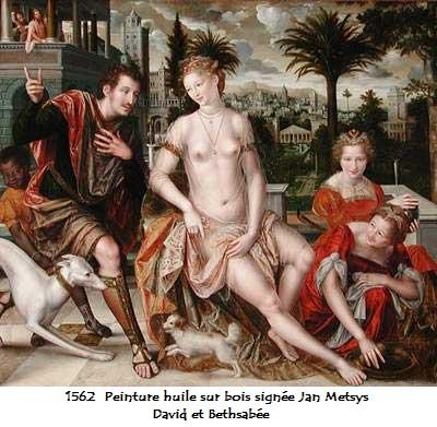1562 peinture de jan metsys david et bethsabee 1