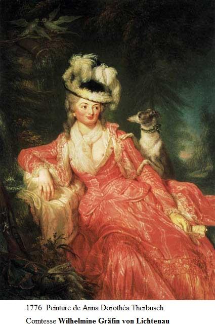 1776 peinture de anna dorothea therbusch comtesse wilhelmine von lichtenau