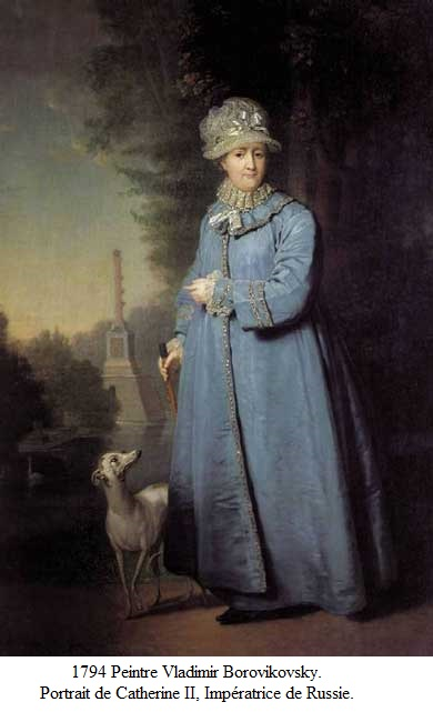 1794 vladimir borovikovsky portrait de catherine ii imperatrice de russie