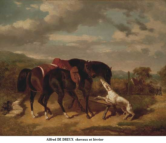 1810 1860 alfred de dreux chevaux et levrier