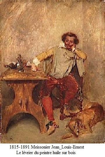 1815 1891 meissonier jean louis ernest le levrier du peintre