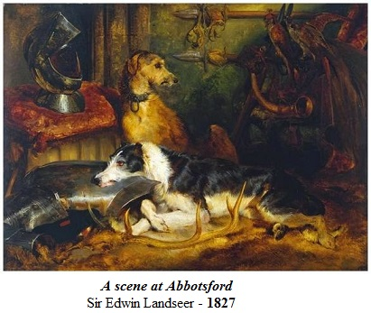 1827 sir edwin henry landseer a scene at abbotsford maida