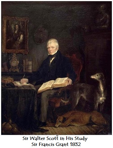 1832 sir walter scott in his study sir francis grant