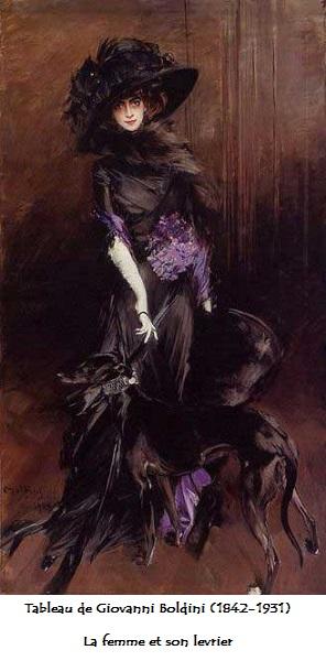 1842 1931 tableau de giovanni boldini la femme et son levrier