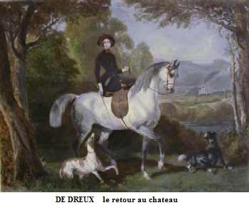 1854 alfred de dreux retour au chateau
