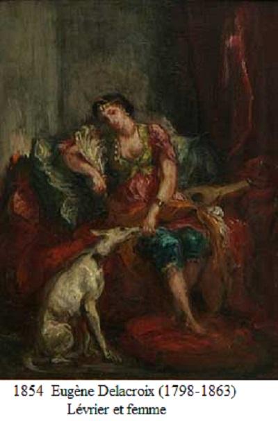 1854 ferdinand victor eugene delacroix levrier et femme