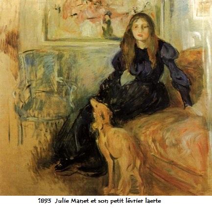 1893 julie manet et son petit levrier laerte