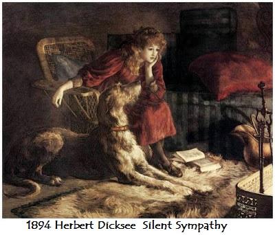 1894 herbert dicksee silent sympathy