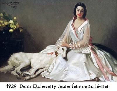 1929 denis etcheverry jeune femme au levrier