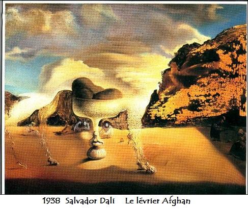 1938 salvador dali le levrier afghan